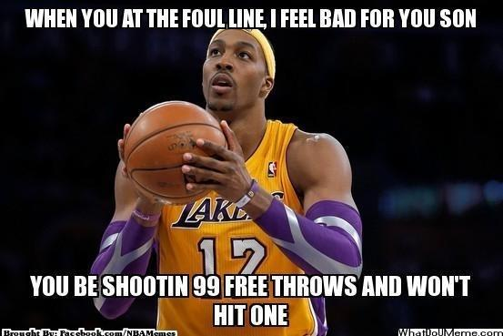 Free throws 99 not hit one meme
